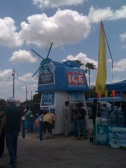 Marketing event for water vending machines near colonias